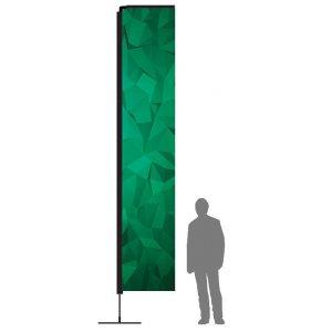 Beachflagg Rett XLarge med mast