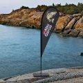 Beachflagg Dråpe Small med mast