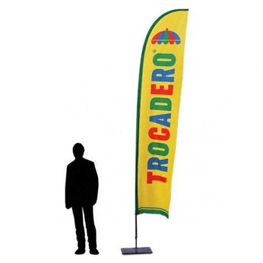 Beachflagg Fjaer Large med mast