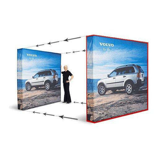 Bildebytte Messestand Media Fabric 5x3 Rett