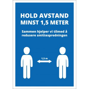 10stk Vanntett plakat 50x70 cm