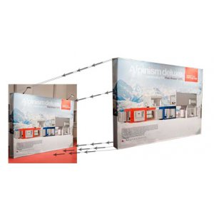 Bildebytte Messestand Media Fabric 4x3 Rett